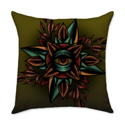 Durant Eye Square Throw Pillow