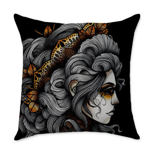 Gianna Girl Throw Pillow