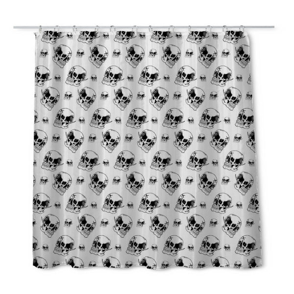 Emman Skull Shower Curtain