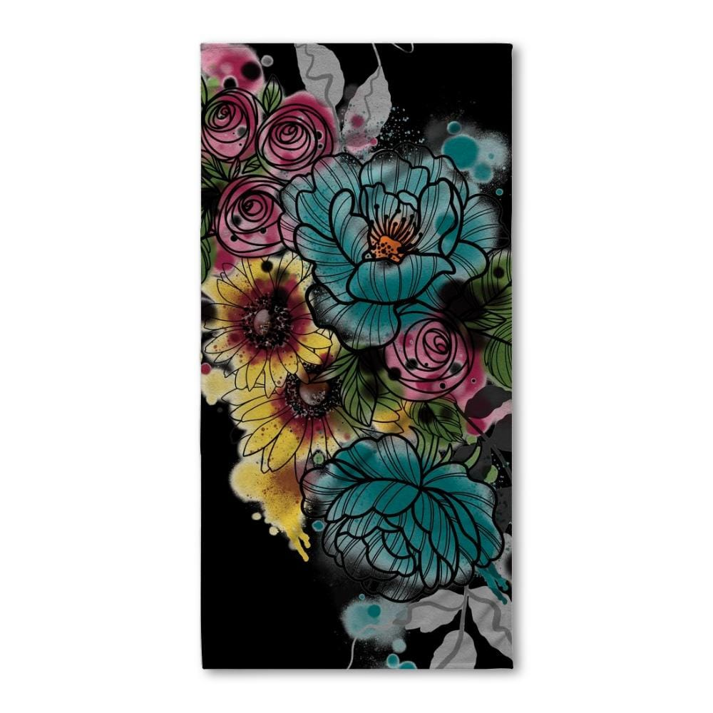 Kristel flowers bath towel kristel flowers bath towel izmirmasajfo