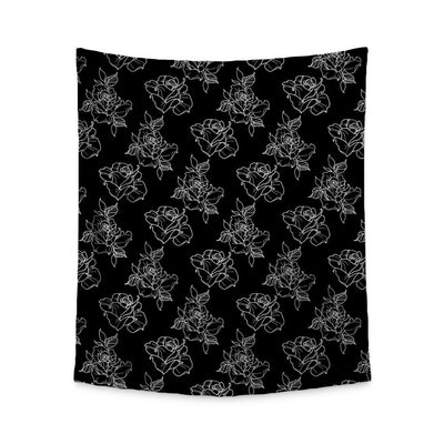 Timmy B Rose Outline Wall Tapestry