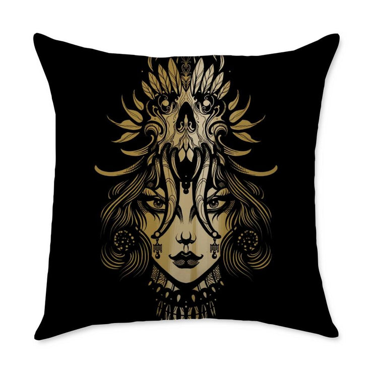 Allie Girl Throw Pillow