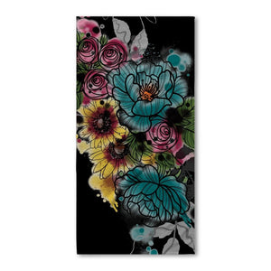 Kristel Flowers Beach Towel