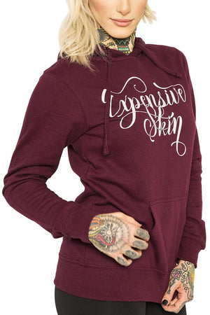 Expensive Skin II Women's Lightweight Blackberry Pullover