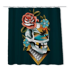 Campbell Skull Shower Curtain