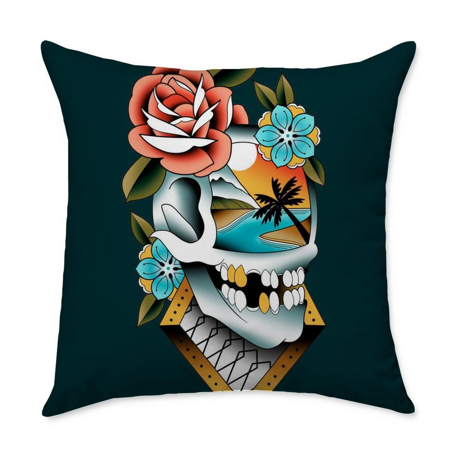 Campbell Skull Throw Pillow
