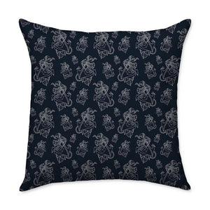 Timmy B Anchor Outline Square Throw Pillow