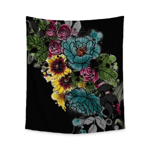 Kristel Flowers Wall Tapestry