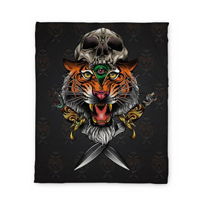 Parisi Tiger Fleece Blanket