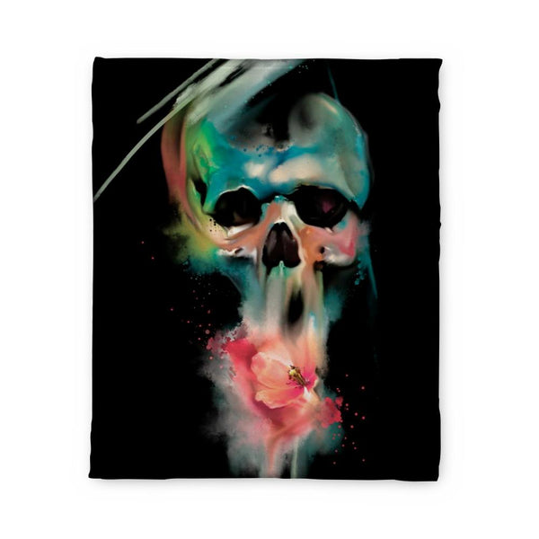 Nordine Skull Fleece Blanket