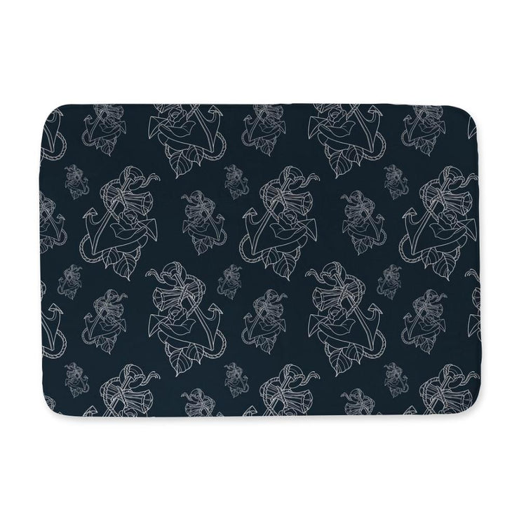 Timmy B Anchor Outline Bath Mat
