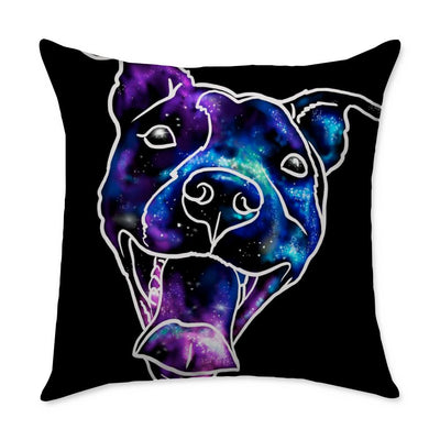 Donovan Pitbull Throw Pillow
