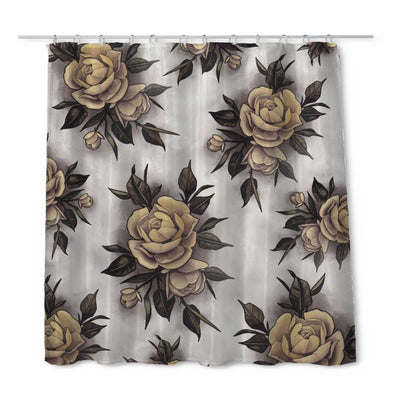 Hume Yellow Rose Shower Curtain