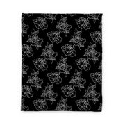 Timmy B Rose Outline Fleece Blanket