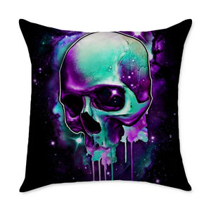 Malek Skull Square Throw Pillow