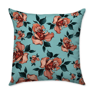 Timmy B Roses Square Throw Pillow
