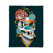 Campbell Skull Fleece Blanket