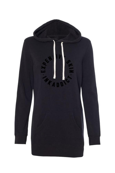 Expensive Skin Circle Black Collection Women's Hoodie Dress