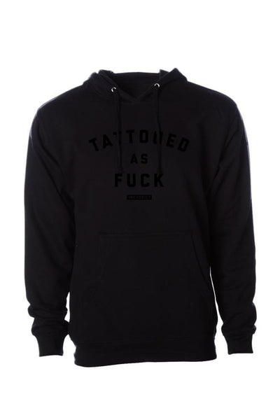 Tattooed as Fuck Men's Black Collection Midweight Pullover Hoodie