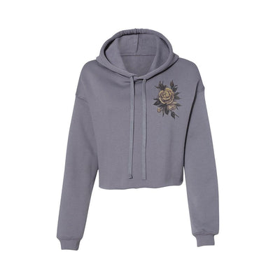 Hume Yellow Rose Women's Crop Hoodie