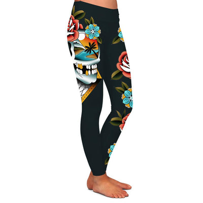 Campbell Skull Womens Premium Leggings