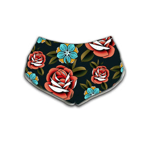 Campbell Skull Womens Retro Shorts