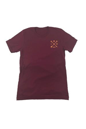 Campbell Eagle Mens Maroon Tee