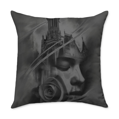 Campbell Castle Square Throw Pillow