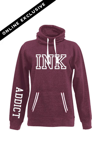 INK 2.0 Maroon Relay Women's Cowlneck Sweatshirt