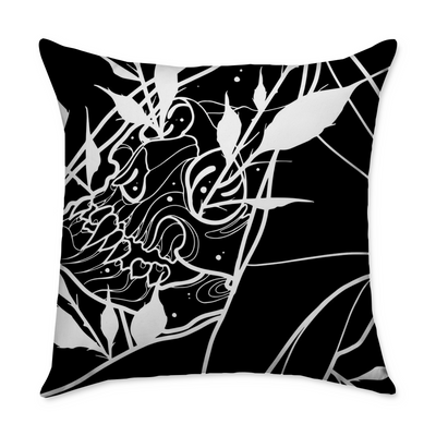 Curzon Skull Square Throw Pillow