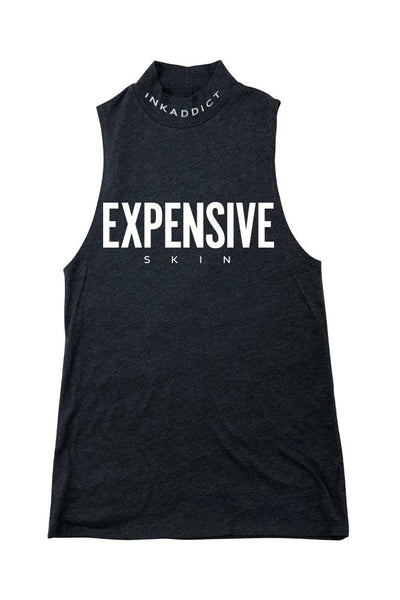 Expensive Skin III Navy Mock Neck Tank