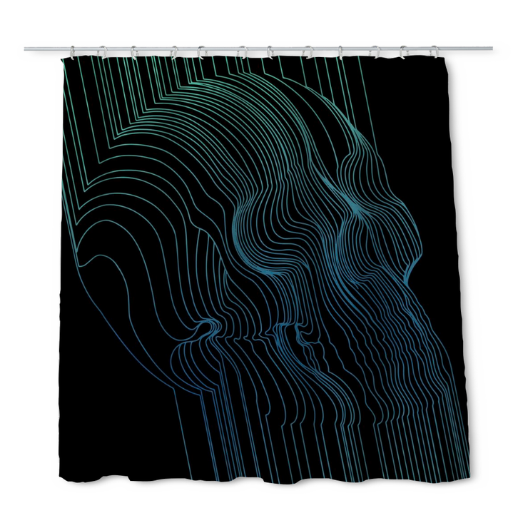 Fults Skull II Shower Curtain