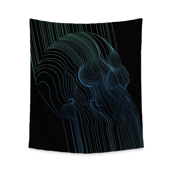 Fults Skull II Wall Tapestry