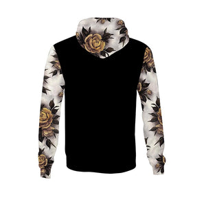 Hume Yellow Rose Black Unisex Hoodie