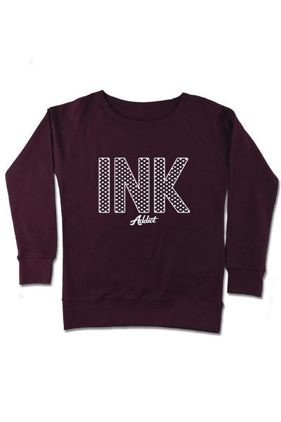 INK Hearts Women's Blackberry Crew