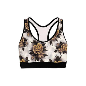 Hume Yellow Rose Womens Sports Bra