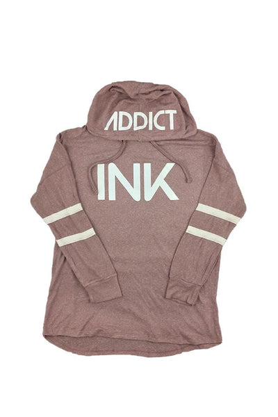 INK Women's Pullover Double Striped Hoodie