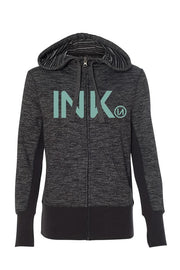 INK Women's Black Baja Zip Hoodie