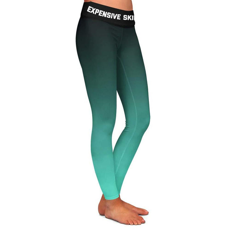 Expensive Skin Teal Womens Premium Leggings
