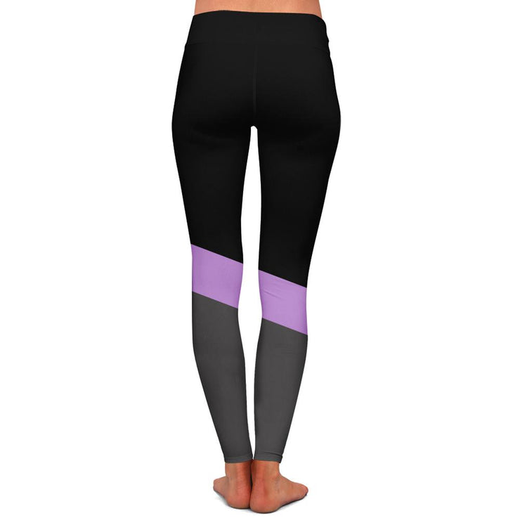 InkAddict TriStripe Purple Womens Premium Leggings