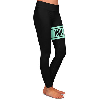 Varsity Black/Mint Womens Premium Leggings