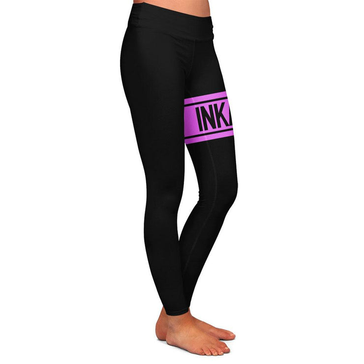Varsity Black/Pink Womens Premium Leggings