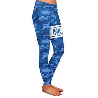 Varsity Camo Blue/White Womens Premium Leggings