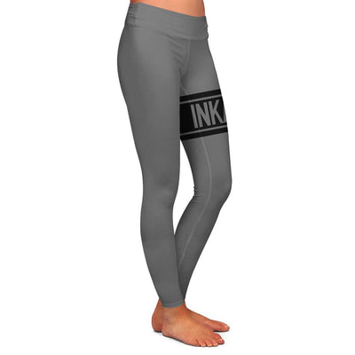 Varsity Grey/Black Womens Premium Leggings