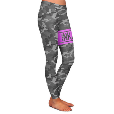 Varsity Camo Gray/Pink Womens Premium Leggings