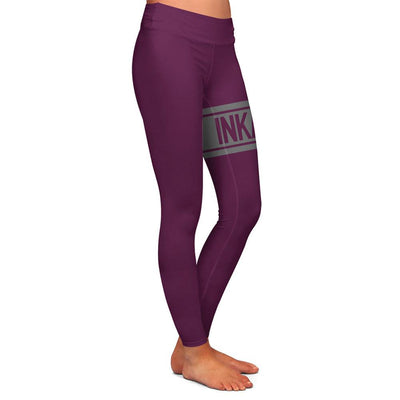 Varsity Maroon/Gray Womens Premium Leggings