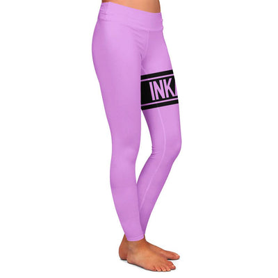 Varsity Pink/Black Womens Premium Leggings