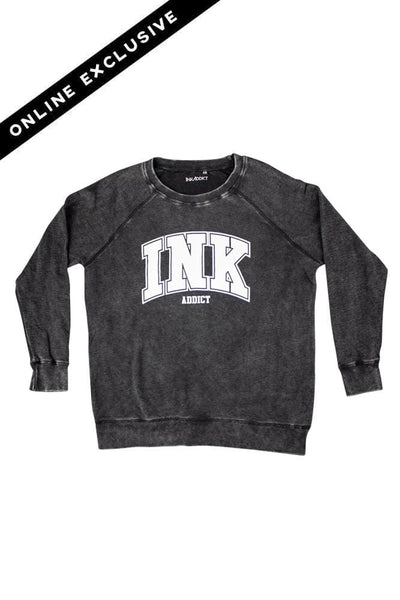 INK Collegiate Women's Mineral Wash Pullover