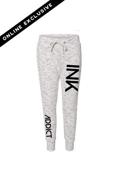 INK White/Black Fleece Women's Jogger Pants