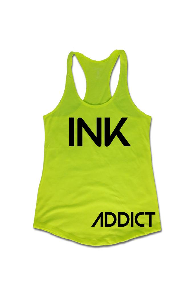 INK Women's Neon Green Tank